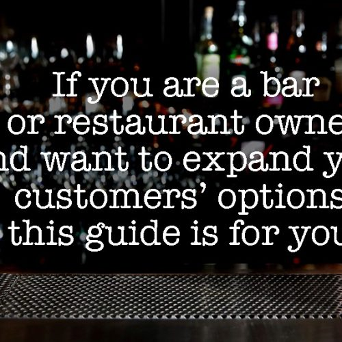 """The bar of a bar with a text that says """"if you are a professional you can be in The Blue Dolphin Guide"""""""
