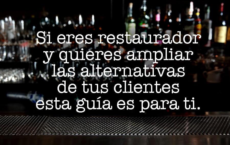 """una barra de bar y un texto que pone """"si eres un bar o restaurante y quieres expandir tus opciones, esta guía es para ti"""""""