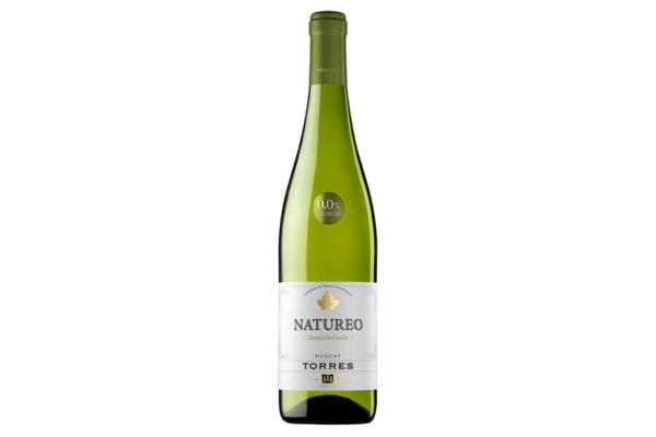 Botella de vino blanco sin alcohol Natureo de Torres