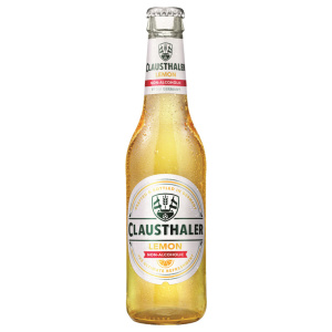 Alcohol-free beer bottle Clausthaler Original Lemon