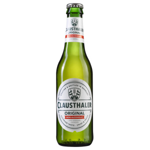 Alcohol-free beer bottle Clausthaler Original