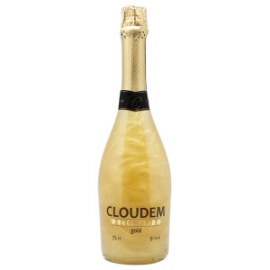 Botella de espumoso sin alcohol Cloudem Gold
