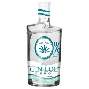 Alcohol-free gin bottle Gin Loe Cero