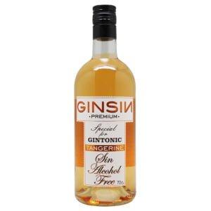 Alcohol-free gin bottle Ginsin Tangerine