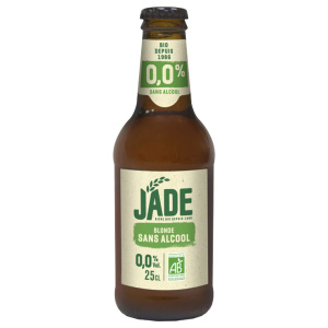 Organic alcohol-free beer bottle Jade