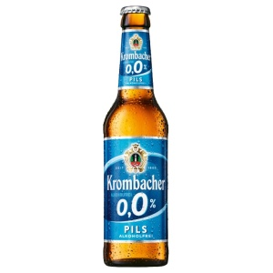Alcohol-free beer bottle Krombacher