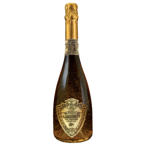 Alcohol-free sparkling wine bottle Lussory Gold 24k