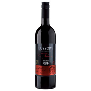 Alcohol-free red wine bottle Lussory Premium Red Merlot