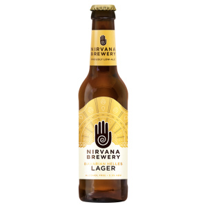 Alcohol-free craft beer bottle Nirvana Brewery Bavarian Helles Lager