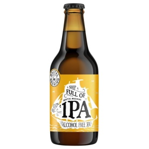 Alcohol-free craft beer bottle Brutal Brewing IPA