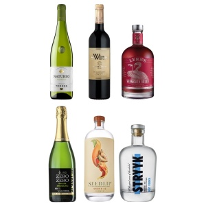Premium pack of six alcohol-free bottles the blue dolphin store