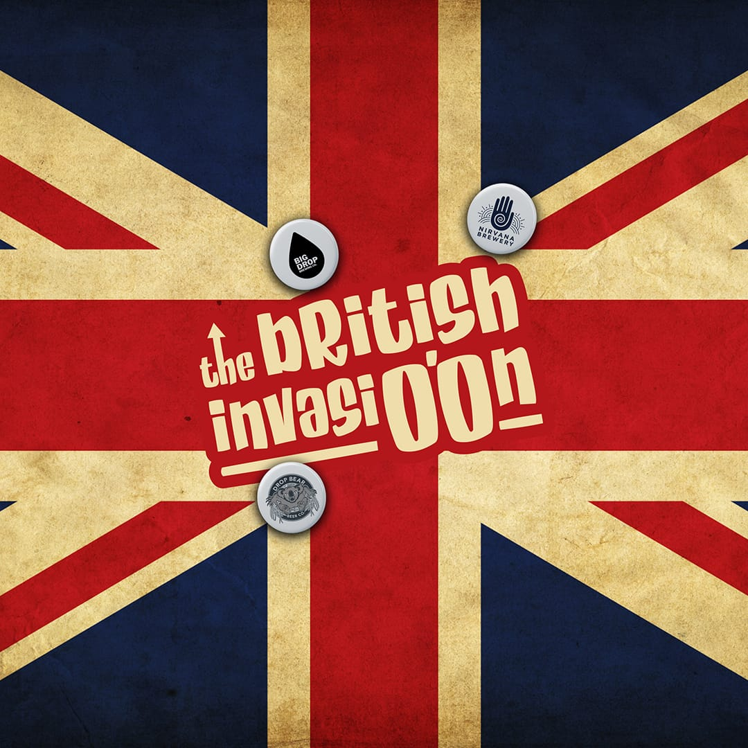 Here comes The British Invasi0.0n! 100% British and 100% Alcohol-free
